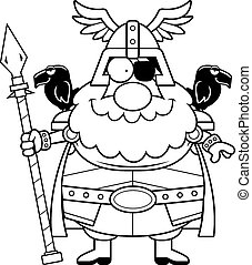 Happy Cartoon Odin