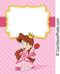happy cartoon princess