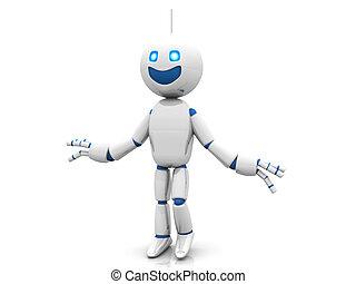 Happy Cartoon Robot