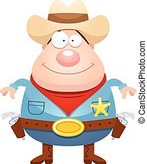 Happy Cartoon Sheriff