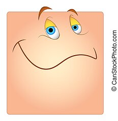 Happy Cartoon Smiley Box Face