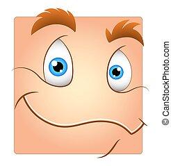 Happy Cartoon Smiley Face - Cute Smile Box Smiley Cartoon ...