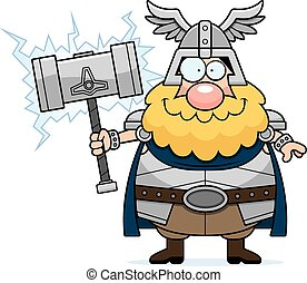 Happy Cartoon Thor