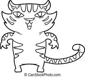 happy cartoon tiger