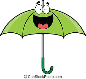 Happy Cartoon Umbrella