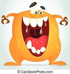 Happy cartoon vector monster