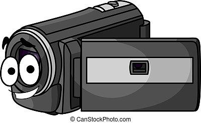 Happy cartoon video camera