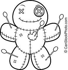 Happy Cartoon Voodoo Doll