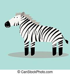 Happy cartoon zebra