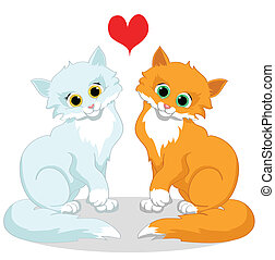 Happy cats in love