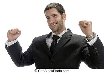 happy caucasian businessman