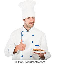 Happy chef isolated