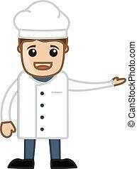 Happy Chef Presenting Vector