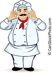 Happy chef vector