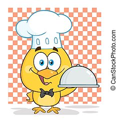 Happy Chef Yellow Chick