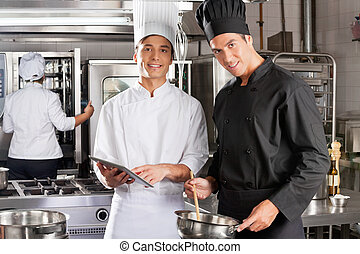 Happy Chefs Cooking Together