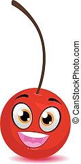 Happy Cherry Mascot
