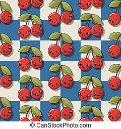 Happy cherry pattern