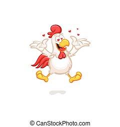 Happy Chicken in Love