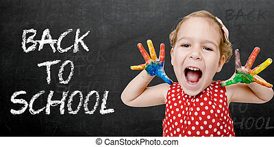 Happy child back to school