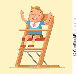 Happy child boy character