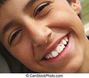 Happy Child - Grinning boy close up