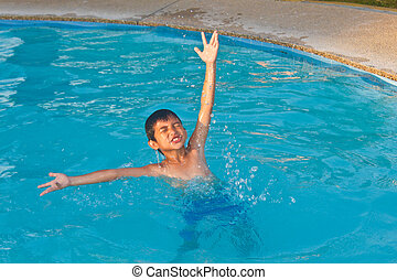 Happy Child in Water