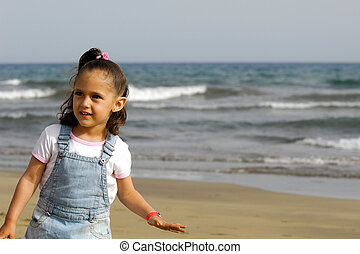 Happy child on beach