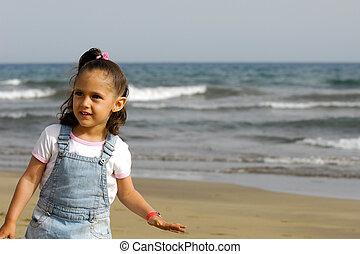 Happy child on beach