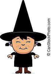 Happy Child Witch