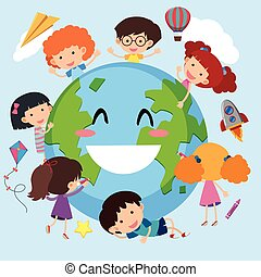 Happy children around the world