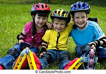 happy children - children in park