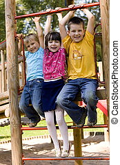 happy children - children on a playground