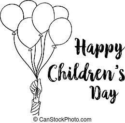 Happy children day design collection