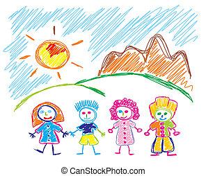 Happy children Sketch