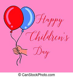 Happy childrens day design style