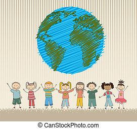 Happy Childrens - happy childrens around the world vector ...