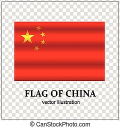 Happy China day banner. Bright button with flag of China.