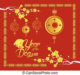 Happy new year of the rabbit 2011 chinese gold coin illustration happy chinese new year 2018 card gold coin year of the dog m4hsunfo