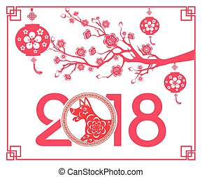 lunar new year vector clipartby tieulong10 happy chinese new year 2018 year of the dog lunar new year