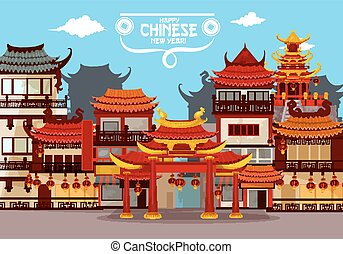 Happy Chinese New Year greeting card design