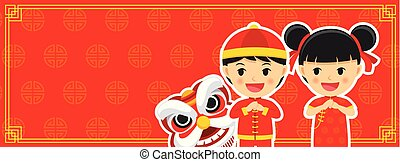 Happy chinese new year greetings card background.