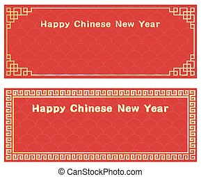 happy chinese new year with card template