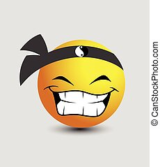 Happy Chinese Smiley Vector