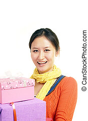Happy Chinese woman