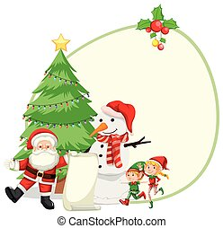 Happy christmas card template