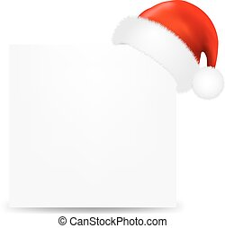 Happy Christmas Card With Santa Hat