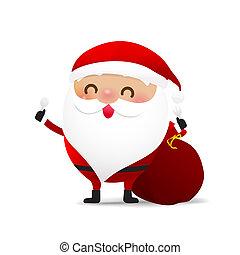 Happy Christmas character Santa claus cartoon 001