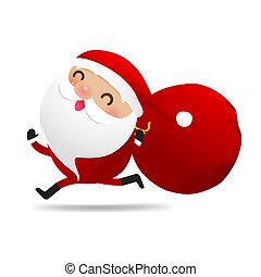 Happy Christmas character Santa claus cartoon 005