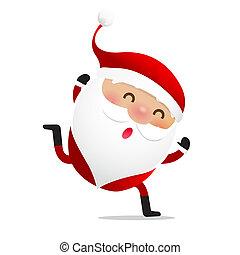 Happy Christmas character Santa claus cartoon 019